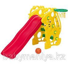 Детская Горка с баскетбольным кольцом CHING CHING САКСОФОН