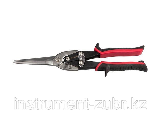 Ножницы по металлу ЗУБР, прямые удлинённые, Cr-Mo, 290 мм, серия Профессионал, фото 2