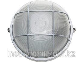 Светильник уличный СВЕТОЗАР влагозащищенный с решеткой, круг, цвет белый, 60Вт