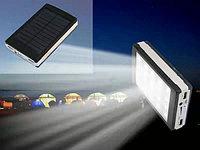 Power bank с солнечной батареей и фонарик 30000mAh