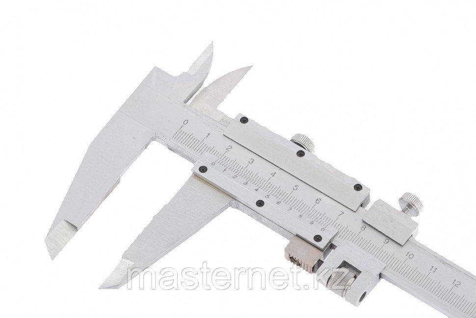 Штангенциркульс глубиномером, 300 мм, цена деления 0,02 мм, металлический, ГОСТ, MATRIX, 316345 - фото 4