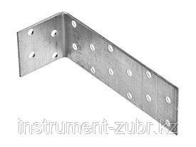 Уголок крепежный равносторонний, 40х80х80 х 2мм, 20шт, ЗУБР