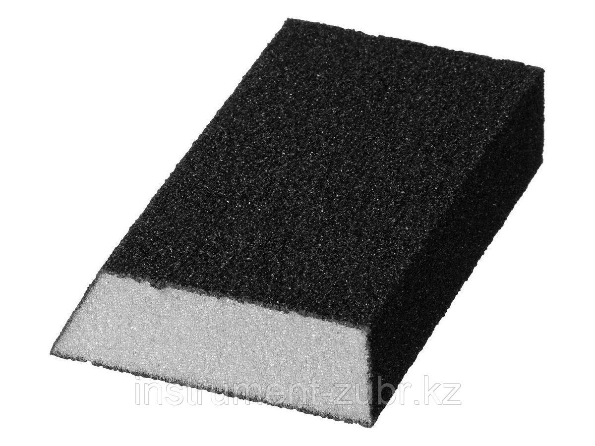 """Губка шлифовальная STAYER """"MASTER"""" угловая, зерно - оксид алюминия, Р80, 100 x 68 x 42 x 26 мм, средняя жесткость"""