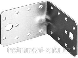 Уголок крепежный усиленный УКУ-2.0, 65х90х90 х 2мм, ЗУБР