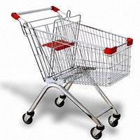 Тележка стальная для супермаркета 80L
