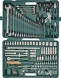 """Набор инструмента универсальный 1/4"""", 1/2""""DR, 128 предметов Jonnesway S04H524128S, фото 2"""