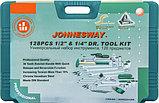 """Набор инструмента универсальный 1/4"""", 1/2""""DR, 128 предметов Jonnesway S04H524128S, фото 4"""
