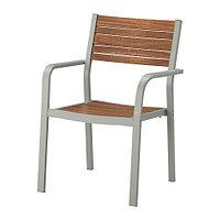 Кресло садовое ШЭЛЛАНД светло-коричневый ИКЕА, IKEA, фото 1