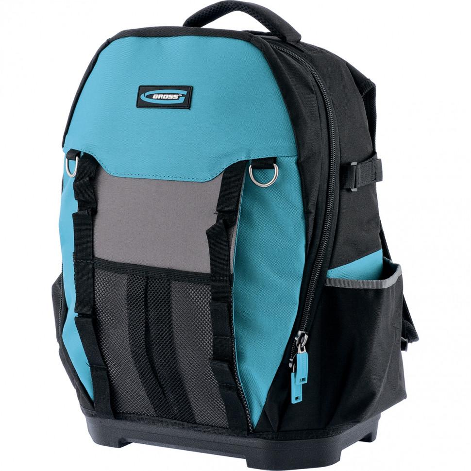 (90270) Рюкзак для инструмента Experte, 77 карманов, пластиковое дно, органайзер, 360*205*470мм// GROSS