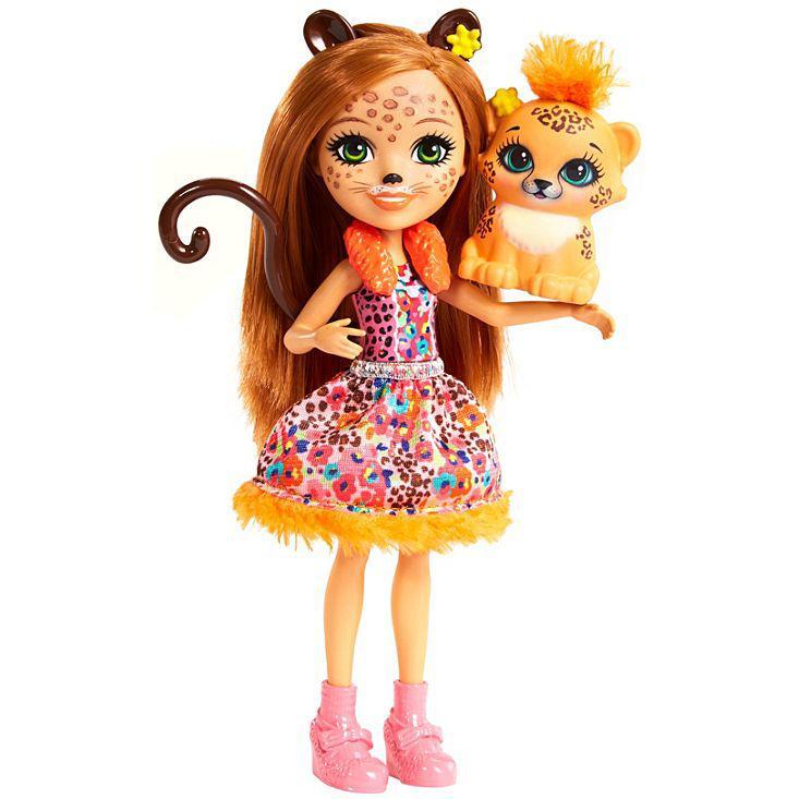 Кукла Enchantimals с питомцем - Чериш Гепарди, 15 см - фото 1