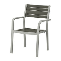 Кресло cадовое ШЭЛЛАНД темно-серый ИКЕА, IKEA, фото 1