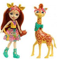 Mattel Enchantimals FKY74 Кукла с большой зверюшкой жираф