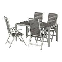 Стол+4 кресел, д/сада ШЭЛЛАНД темно-серый ИКЕА, IKEA
