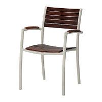 Кресло cадовое ВИНДАЛЬШЁ коричневая морилка ИКЕА, IKEA, фото 1