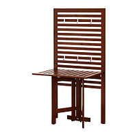 Садовый стол+настенная панель ЭПЛАРО коричневая морилка , фото 1