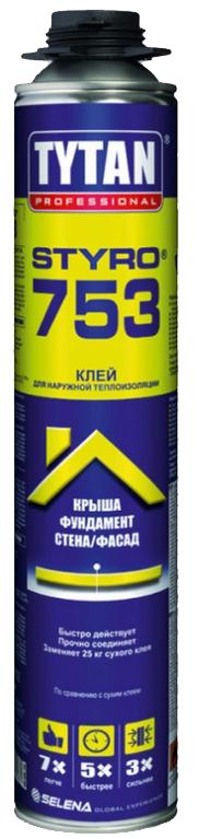 ПЕНА-КЛЕЙ TYTAN 750мл ДЛЯ ИЗОЛЯЦИИ И ДЕКОРАЦИИ