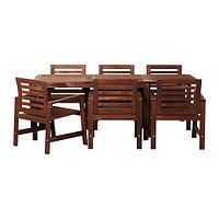 Стол+6 кресел, д/сада ЭПЛАРО коричневая морилка ИКЕА, IKEA