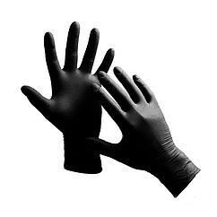 Перчатки нитриловые черные L (100/1000) (1 упаковка - 100шт/50пар)