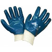 Перчатки нитриловые рабочие (манжет-резинка, полное покрытие)