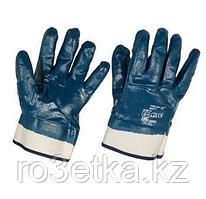 Перчатки нитриловые рабочие полное покрытие крага