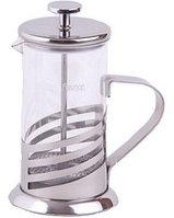 9021 FISSMAN Заварочный чайник с поршнем ATLAS 350 мл. (стеклянная колба)
