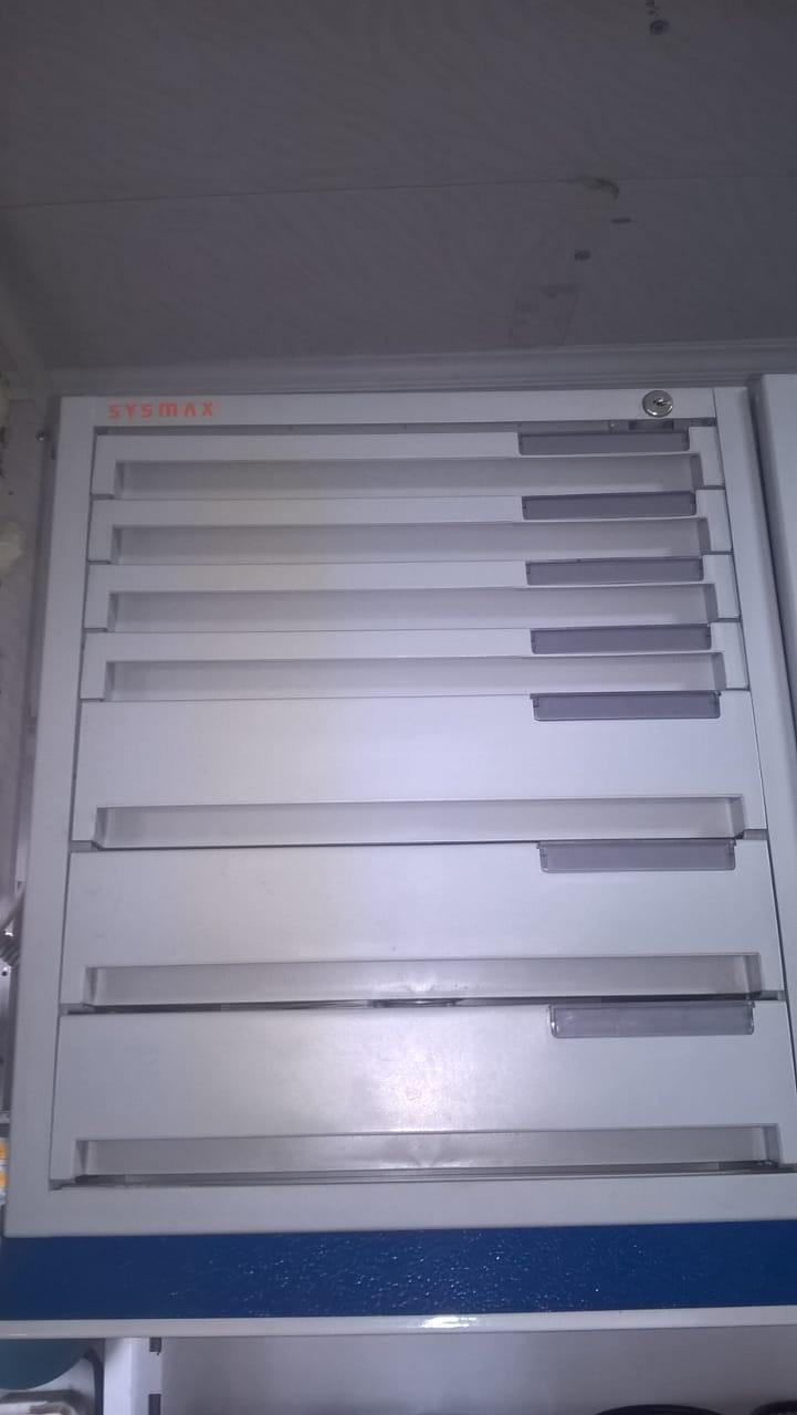 Настольный бокс для хранения документов Sysmax, 7 лотков с отделениями