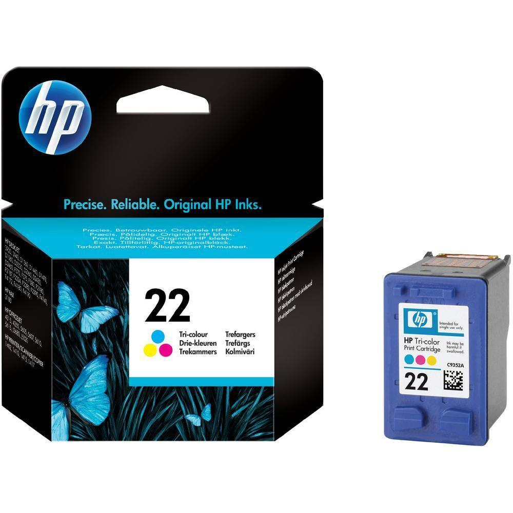 Картридж HP C9352AE#UUQ Desk jet/№22/tri-colour/5 ml