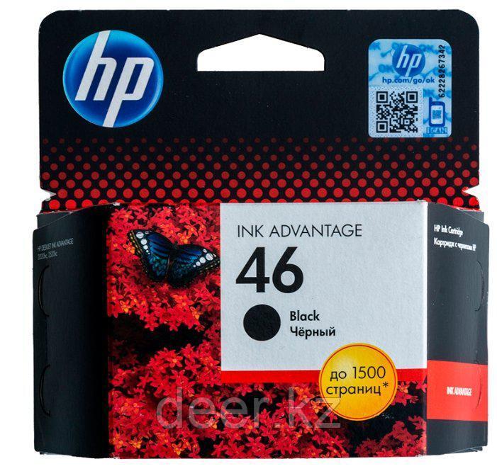 Картридж HP CZ637AE#BFW Ink/№46/black/