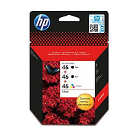 Картридж HP F6T40AE#BFW Ink/№46/2 black and 1 color/HPS