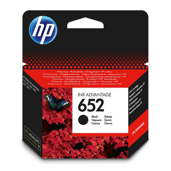 Картридж HP F6V25AE#BHK Ink/№652/black/6 ml