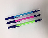 Ручка шариковая синяя Стамм Неон