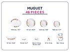 Столовый сервиз Luminarc Essence Muguet 46 предметов, фото 2
