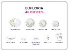 Столовый сервиз Luminarc Essence Eufloria 46 предметов, фото 2