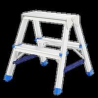 Стремянка алюминиевая Сибртех, двухсторонняя, 2 ступ.