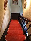 Коврики для лестниц  Ангара оранжевый 24*55  в розницу, фото 2