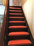 Коврики для лестниц  Ангара оранжевый 24*55  в розницу, фото 3