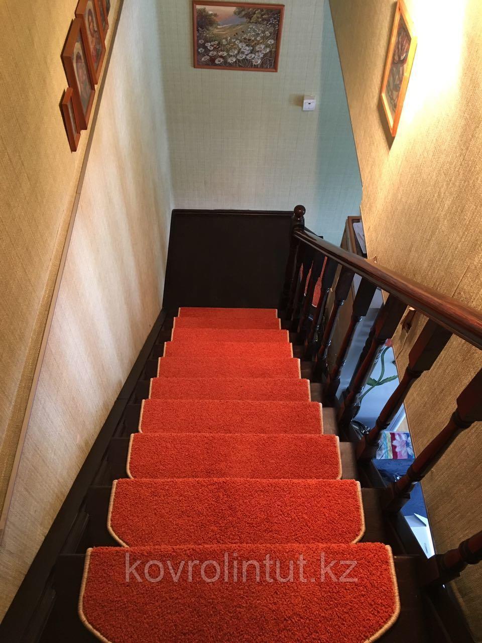 Коврики для лестниц  Ангара оранжевый 26x70  в розницу
