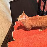 Коврики для лестниц  Ангара оранжевый 26x70  в розницу, фото 2
