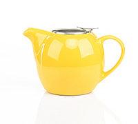 9202 FISSMAN Заварочный чайник 750 мл с ситечком ЖЕЛТЫЙ (керамика)