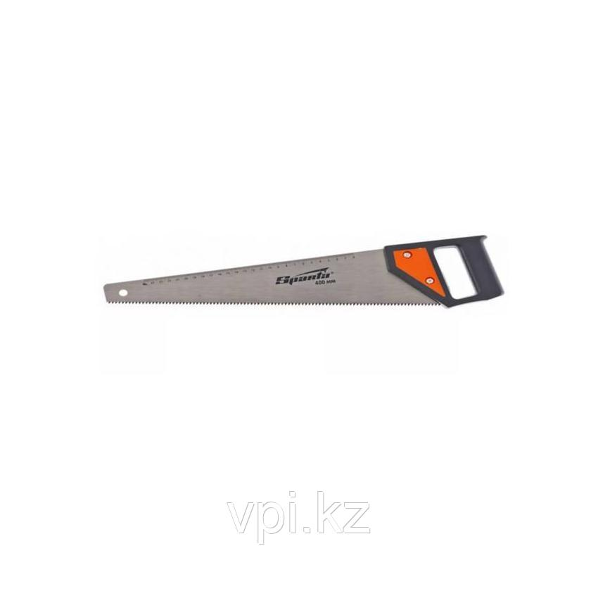 Ножовка по дереву, каленый зуб, линейка, tpi 5-6, 400мм.  SPARTA