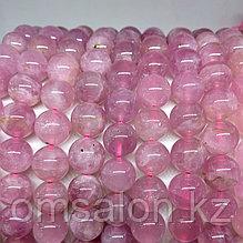 Кварц розовый мадагаскарский, 9мм