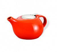 9196 FISSMAN Заварочный чайник 1300 мл с ситечком ОРАНЖЕВЫЙ (керамика)