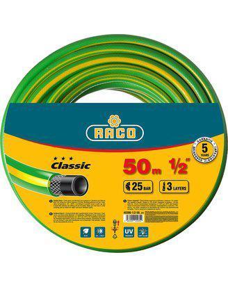 "Шланг RACO CLASSIC поливочный, 25атм., армированный, 3-х слойный, 1/2""х50м, фото 2"