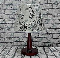 Лампа настольная, деревянная