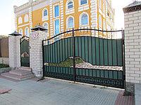 Кованые ворота с калиткой, фото 1