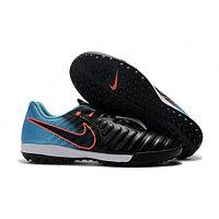 Бутсы футбольные Nike TiempoX Legend Academy VII TF Black Blue Orange