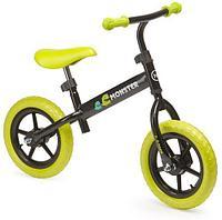"""Беговел Happy Baby """"U-RUN"""", зеленый, С РУЧНЫМ ТОРМОЗОМ, от 2-6 лет, Алюминиевый сплав, Надувные колёса"""