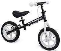 """Беговел Happy Baby """"U-RUN"""", черно-белый, С РУЧНЫМ ТОРМОЗОМ, от 2-6 лет, Алюминиевый сплав, Надувные колёса"""