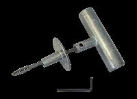 Игла открытая с ограничителем и металлической ручкой