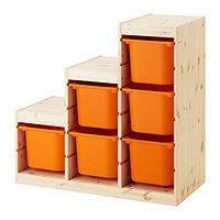 стеллаж для игрушек ТРУФАСТ оранжевый ИКЕА, IKEA